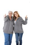 Happy mother and adult daughter smiling Royalty Free Stock Image