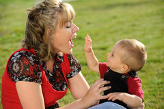 Happy Mother and Baby Stock Images