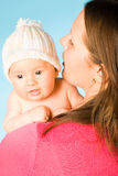 Happy mother with baby Stock Photo
