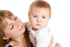 Happy mother and baby Royalty Free Stock Photos