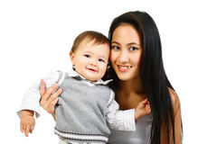 Happy mother and baby. Stock Image