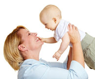 Happy mother with baby Stock Photography