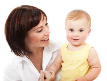 Happy mother with a baby Royalty Free Stock Image