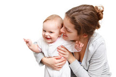 Happy mother with baby Royalty Free Stock Photos