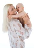 Happy mother with baby royalty free stock photography