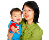 Happy mother and  baby Stock Photos