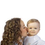 Happy mother with baby royalty free stock photo