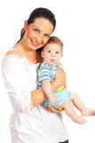 Happy mother and baby boy Royalty Free Stock Photo