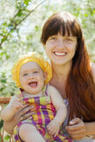 Happy mother with baby daughter royalty free stock image