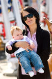 Happy mother with baby girl Stock Photography