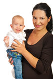 Happy mother with baby girl Stock Images