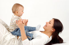 Happy mother with baby girl Royalty Free Stock Image