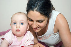 Happy mother with baby girl Royalty Free Stock Photography