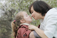 Happy mother and baby girl having fun Royalty Free Stock Images