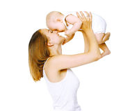 Happy mother and baby. Having fun Royalty Free Stock Photography