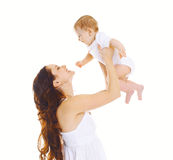 Happy mother and baby having fun Royalty Free Stock Images