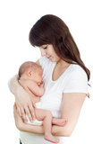 Happy mother with baby infant Stock Image