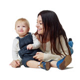 Happy mother and baby Royalty Free Stock Photography