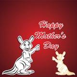 Happy Mother and Baby Kangaroo Royalty Free Stock Photos