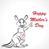Happy Mother and Baby Kangaroo Royalty Free Stock Image
