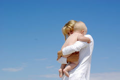Happy mother and baby playing Royalty Free Stock Photos