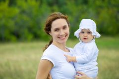 Happy mother and baby Stock Image