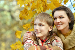 Happy Mother with boy Stock Photos