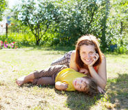 Happy mother and child Stock Photography
