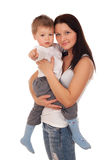 Happy mother with a child Royalty Free Stock Image