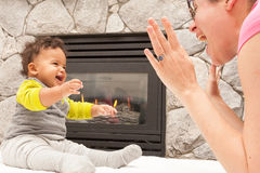Happy Mother Child Warm Home Royalty Free Stock Image