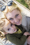 Happy mother and child girl Stock Image