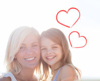 Happy mother and child girl Stock Photo