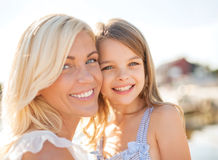 Happy mother and child girl Stock Photos