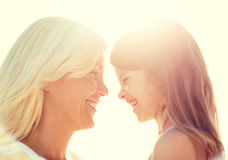 Happy mother and child girl Royalty Free Stock Photos