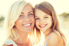 Happy mother and child girl Royalty Free Stock Images