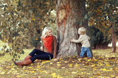 Happy mother and child having fun Stock Images