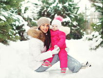 Happy mother and child having fun outdoors Royalty Free Stock Photo