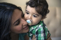 Happy mother with child. Selective soft focus effect Royalty Free Stock Image
