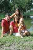 Happy mother and children royalty free stock photography