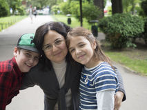Happy mother and children Stock Photography