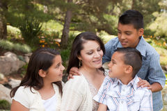 Happy Mother and Children in the Park Royalty Free Stock Photography