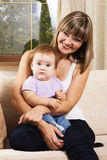 Happy mother with cute little daughter Stock Photography
