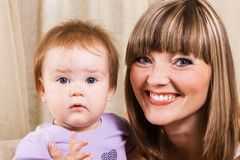Happy mother with cute little daughter Royalty Free Stock Photos
