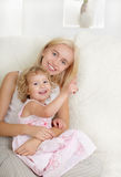 Happy mother with a daughter Stock Image
