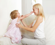 Happy mother with a daughter Stock Photography