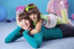 Happy mother with daughter Stock Image