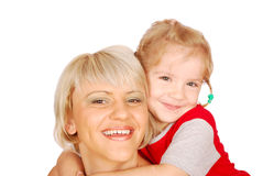 Happy mother and daughter Stock Photos