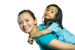 Happy Mother Daughter Royalty Free Stock Images
