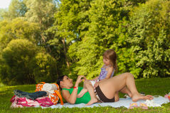 Happy mother and daughter on the beach II. Royalty Free Stock Photo