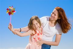 Happy mother and daughter having fun Royalty Free Stock Images